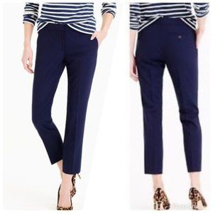 J. Crew Paley Wool Blend Trouser Pants Navy Blue